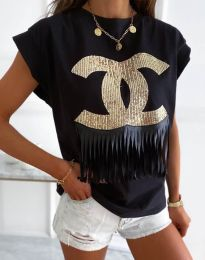 Tričko - kód 4713 - čierná