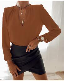 Košeľa - kód 405 - hnedá