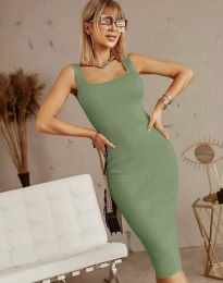 Šaty - kód 5965 - olivovo zelená
