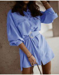 Šaty - kód 6461 svetlo modrá
