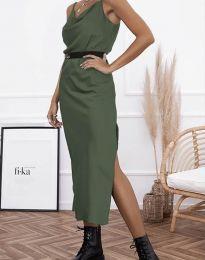 Šaty - kód 6231 - olivová  zelená
