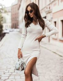 Šaty - kód 6593 - biela