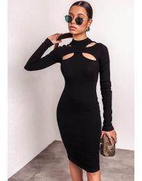 Šaty - kód 1625  - 3 - čierná