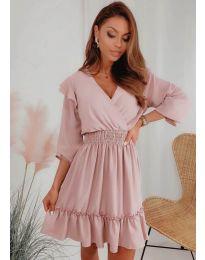 šaty- kód 8554 - pudrová