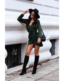 Šaty - kód 395 - olivová  zelená