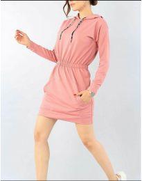 Šaty - kód 7315 - pudrová