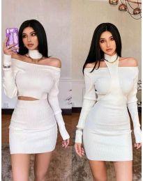 Šaty - kód 3982 - biela
