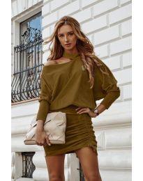 Šaty - kód 8987 - hnedá