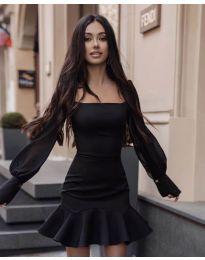Šaty - kód 3605 - čierná