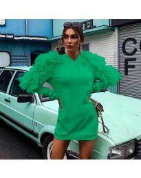 Šaty - kód 6383 - zelená