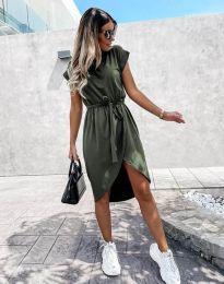 Šaty - kód 2074 - olivovo zelená