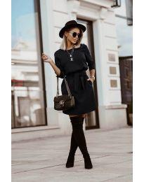 Šaty - kód 6100 - čierná