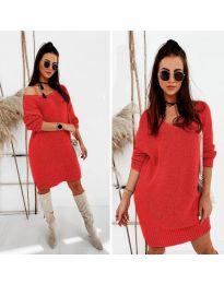 Šaty - kód 6457 - červená