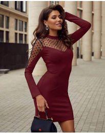 Šaty - kód 2484 - bordeaux