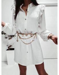 Šaty - kód 3433 - biela