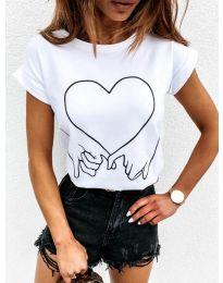 Tričko - kód 2266 - biela