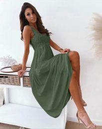 Šaty - kód 4807 - olivovo zelená