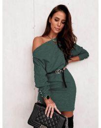 Šaty - kód 4442 - olivová  zelená
