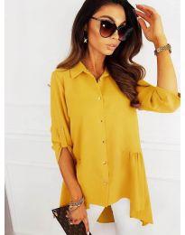 Košeľa - kód 5689 - žltá