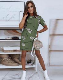 Šaty - kód 2906 - olivovo zelená