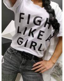 Tričko - kód 467 - 1 - biela