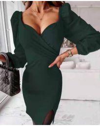 Šaty - kód 2595 - tmavě zelená
