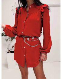 Šaty - kód 3433 - červená