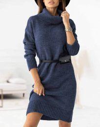 Šaty - kód 0393 - tmavomodrá