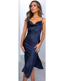 Šaty - kód 7161 -  modrá