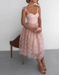 Šaty - kód 4485 - 1 - pudrová