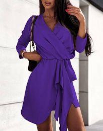 Šaty - kód 2879 - tmavofialová