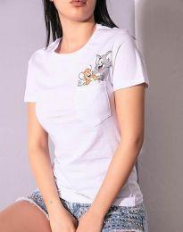 Tričko - kód 2447 - 3 - biela