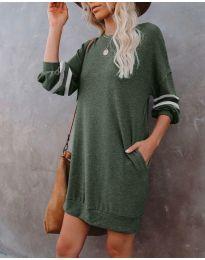 Šaty - kód 5925 - olivová  zelená