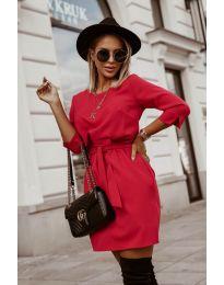 Šaty - kód 6100 - červená