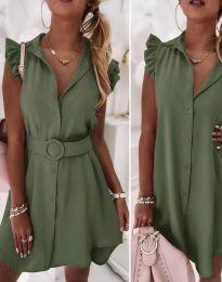 Šaty - kód 7411 - olivovo zelená