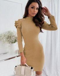 Šaty - kód 9652 - 2 - bežová