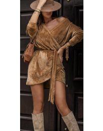Šaty - kód 238 - hnedá