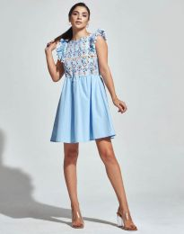 Šaty - kód 1482 - 4 - svetlo modrá