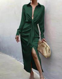 Šaty - kód 6459 - tmavozelený