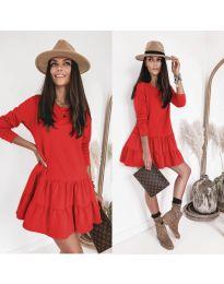 Šaty - kód 8486 - červená