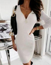 Šaty - kód 9807 - 1 - biela