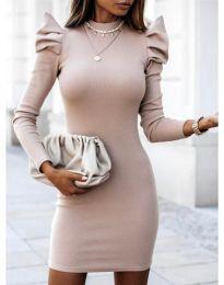 Šaty - kód 1504 - 1 - bežová