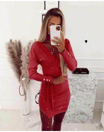 Šaty - kód 2077 - červená