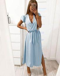 Šaty - kód 2455 - 1 - svetlo modrá