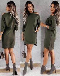 Šaty - kód 0796 - olivová  zelená