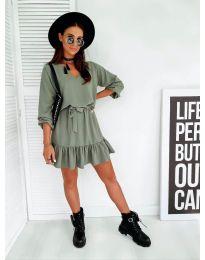 Šaty - kód 4146 - olivová  zelená