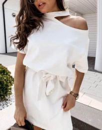 Šaty - kód 0256 - 2 - biela