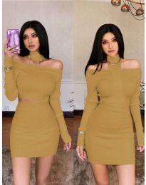 Šaty - kód 3982 - hnedá