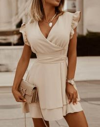 Šaty - kód 5654 - bežová