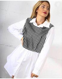 Košeľa - kód 9990 - 2 - biela